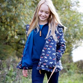 Chantilly Childrens Waterproof Coat on girl