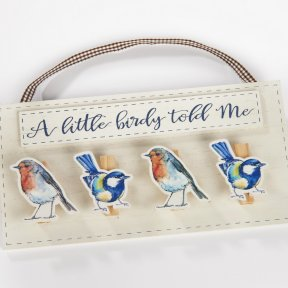 Bird Peg Plaque
