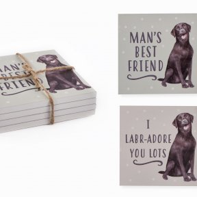 Labrador coasters set of 4