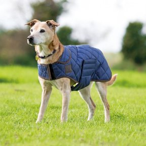 Digby & Fox Quilted Dog Coat in Navy