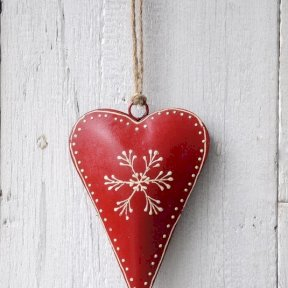 Red Rustic Heart Decoration