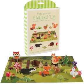 12 Piece 3D Animal Activity Set