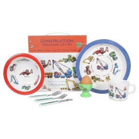 Construction Children's 7 Piece Melamine Set