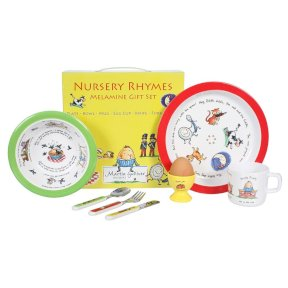 Nursery Rhymes Children's 7 Piece Melamine Set