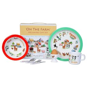 On the Farm Children's 7 Piece Melamine Set