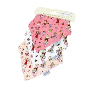 Cup Cake Fairy Children's Dribble Bib 3pk