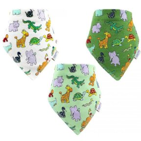 Jungle Friends Children's Dribble Bib 3pk