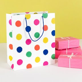 Large Spotty Gift Bag