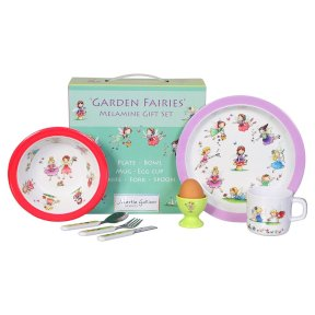 Garden Fairies Children's 7 Piece Melamine Set