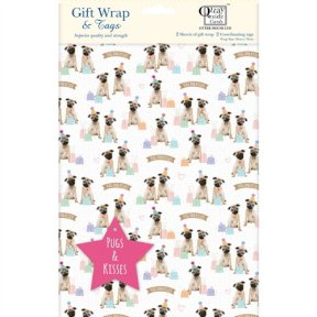 Party Pugs Giftwrap & Tag