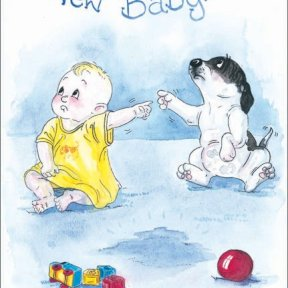 Alison Animals - New Baby Card