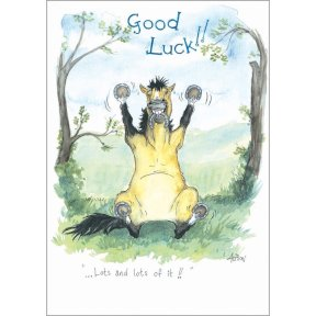 Alisons Animals - Good Luck Card
