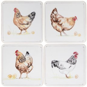 Chicken Coasters Set of 4