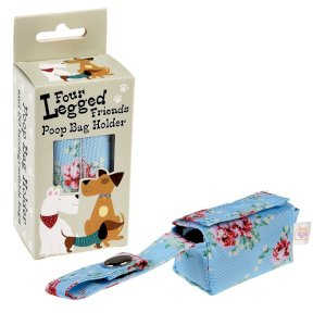 English Rose Poop Bag Holder with bags