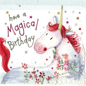 Alex Clark Unicorn Birthday Card