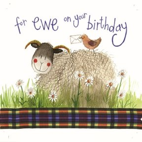alex clark for ewe on your birthday card