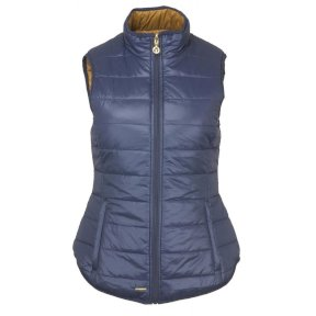 Toggie Arrie Reversible Gilet Midnight Blue/Camel