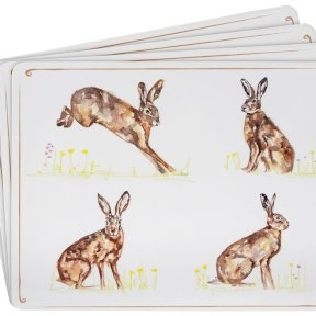 Hare Set of 4 Placemats