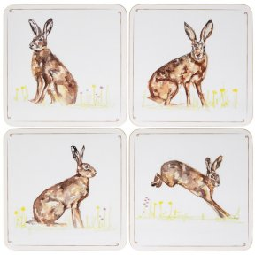 Hare Set of 4 Coasters