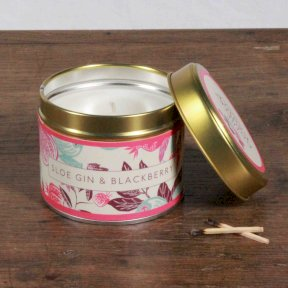 Sloe Gin & Blackberry Fragrant Orchard Candle in Gold Tin