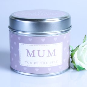 Mum Sentiment Tin Candle