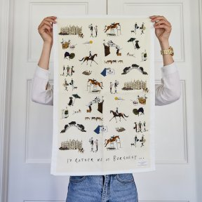 Tea Towel - I'd Rather Be At Burghley