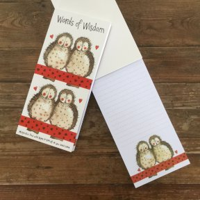 Owls Magnetic Notepad