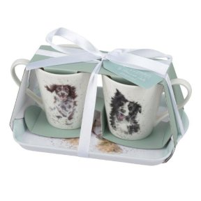 Wrendale Dog Mug and Tray Set