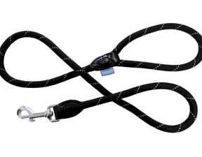 Mountain Rope Trigger Lead - Reflective Fleck - Black - 1.2 x 120cm