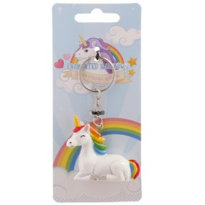 Enchanted Rainbow Unicorn Keyring