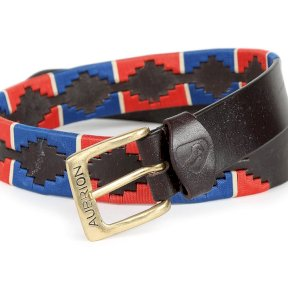 Aubrion Drover Polo Belt - Navy/Red