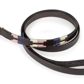 Digby & Fox Drover Polo Dog Lead - Navy/Pink/Natural