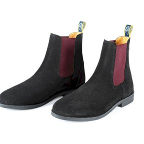 Moretta Antionia Suede Chelsea Boots - Black