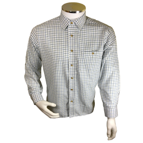 Hawkswood Tattersall Long Sleeve Shirt - Blue