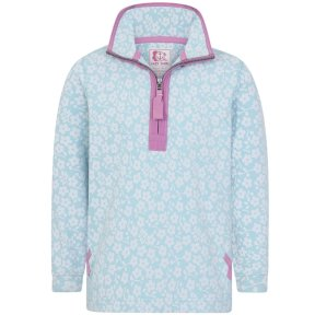 Lazy Jacks Girls Supersoft Printed 1/4 Zip Sweatshirt