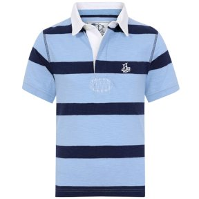 Lazy Jacks Boys Short Sleeve Striped Rugby Top