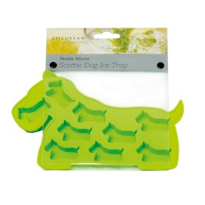 Silicone Scottie Dog Ice Tray - Green
