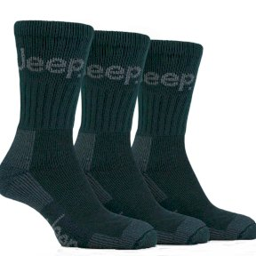 Mens Jeep Terrain Socks - Forest Green