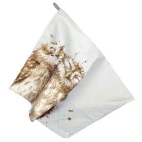 Wrendale 'Birds of a Feather' Owl Tea Towel