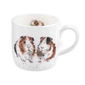 Wrendale 'Lettuce Be Friends' Guinea Pig Bone China Mug