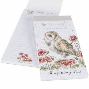 Wrendale 'The Lookout' Owl Magnetic Shopping Pad