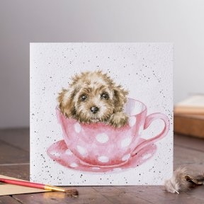 Wrendale Country Set 'Teacup Pup' Dog Card