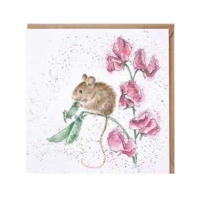 Wrendale Country Set 'The Pea Thief' Mouse Card