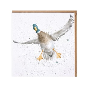 Wrendale Country Set 'The Crash Landing' Duck Card