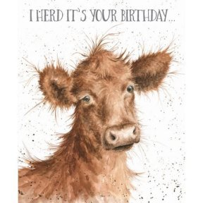 Wrendale Occasions 'I Herd' Cow Birthday Card
