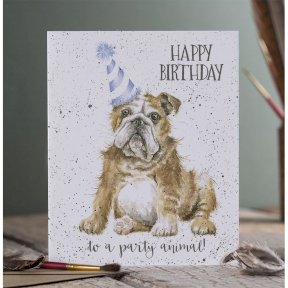 Wrendale Occasions Range 'Smile!' Dog Birthday Card