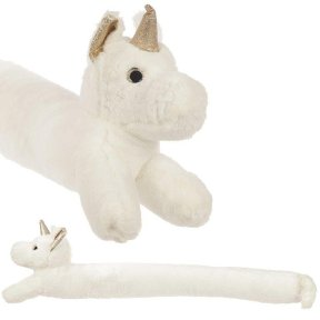 Enchanted Rainbows White Unicorn Draught Excluder