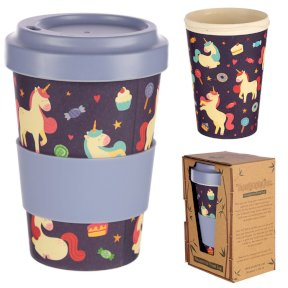 Enchanted Dreams Unicorn Bamboo Travel Mug