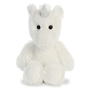 Soft White Unicorn Plush 8inch