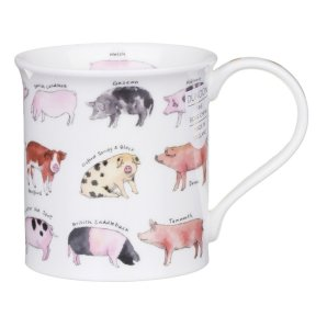 Dunoon Animal Breeds Pig Bute Shape Mug